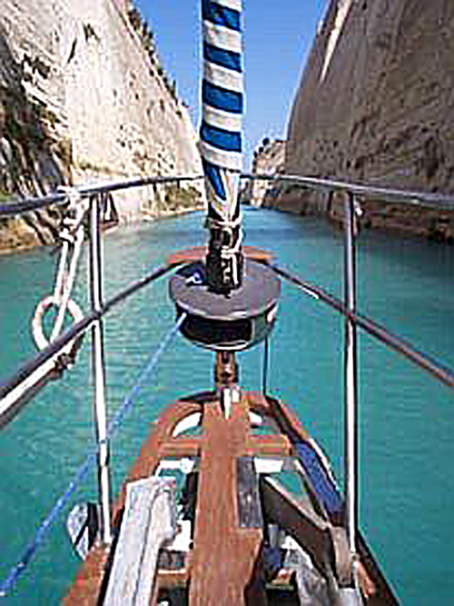 Corinth in the              Canal